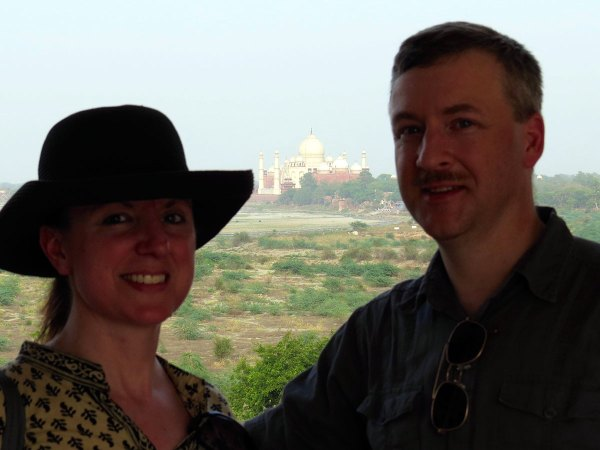 Michelle and Ed inside the Red Fort, Agra, India