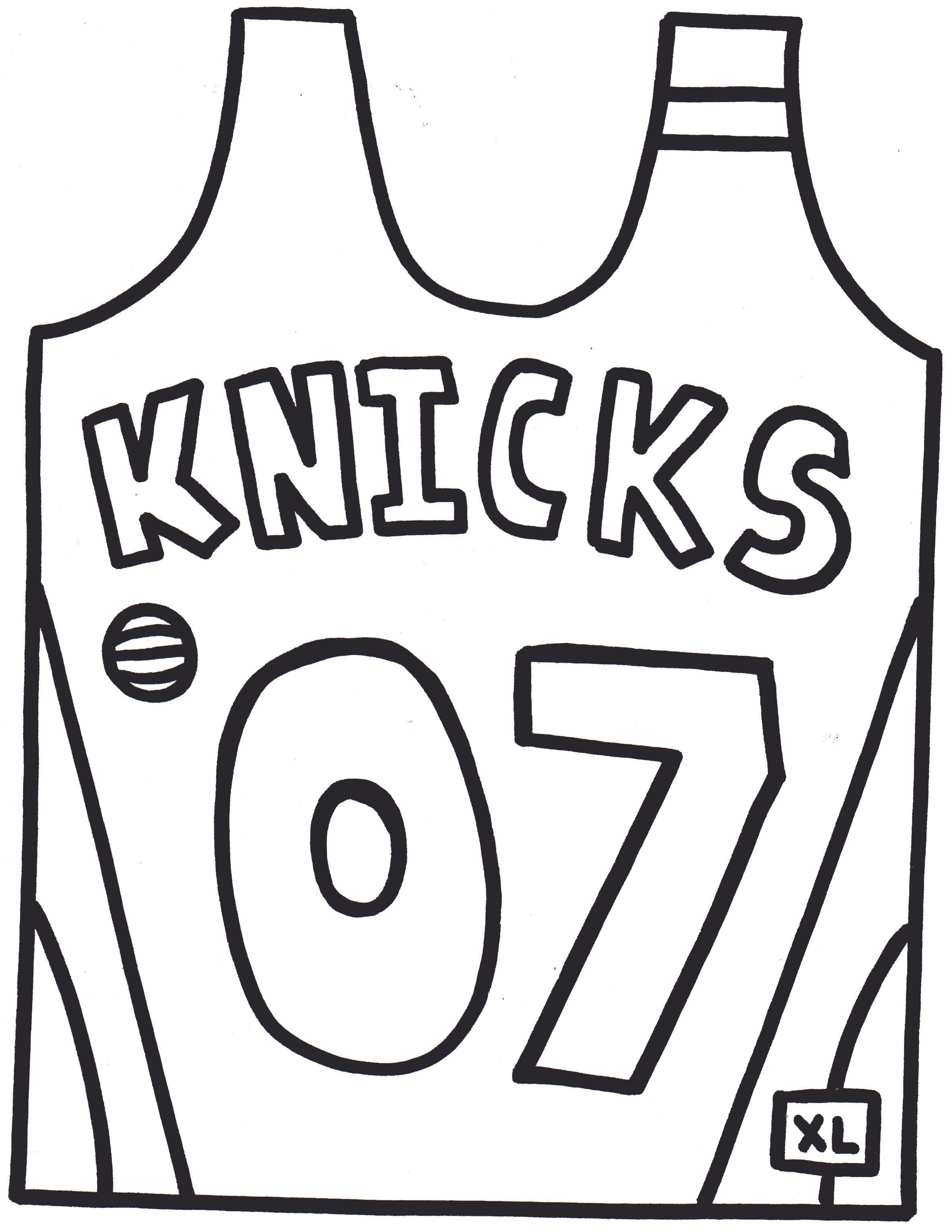 Printable Football Jersey Coloring Pages