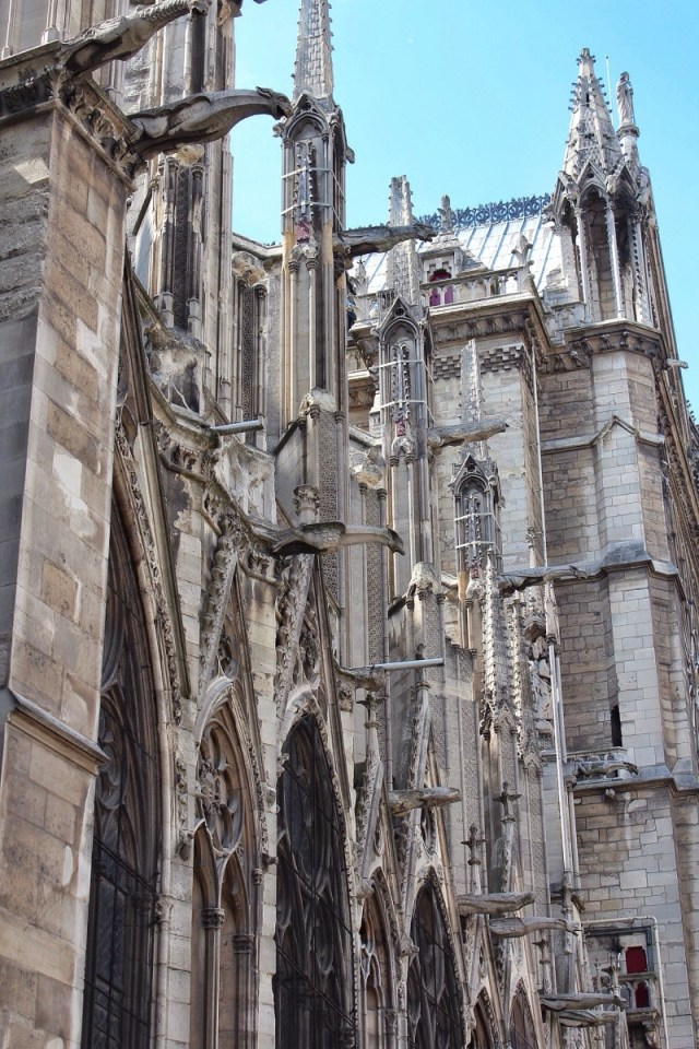 Notre Dame detail, paris, france