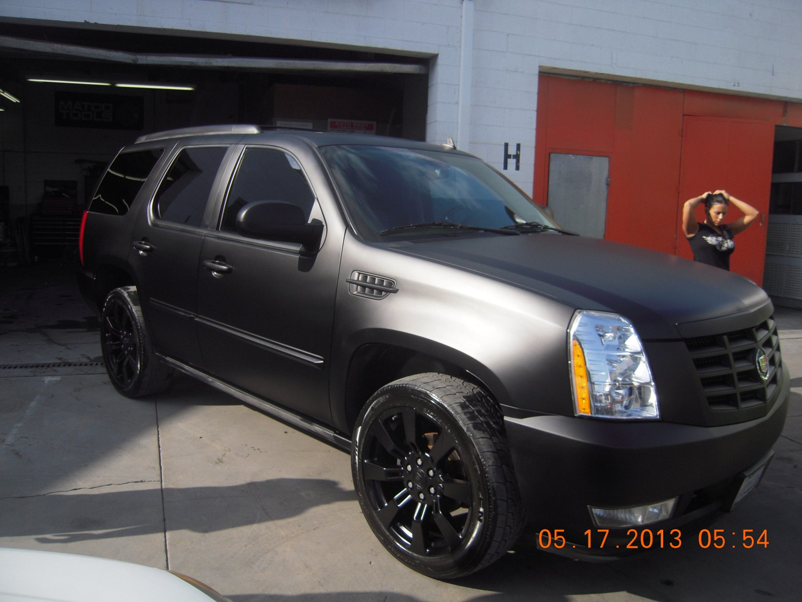 2008 Escalade Custom Black Matte Color Paint West Coast Body And Paint Auto Body Shop