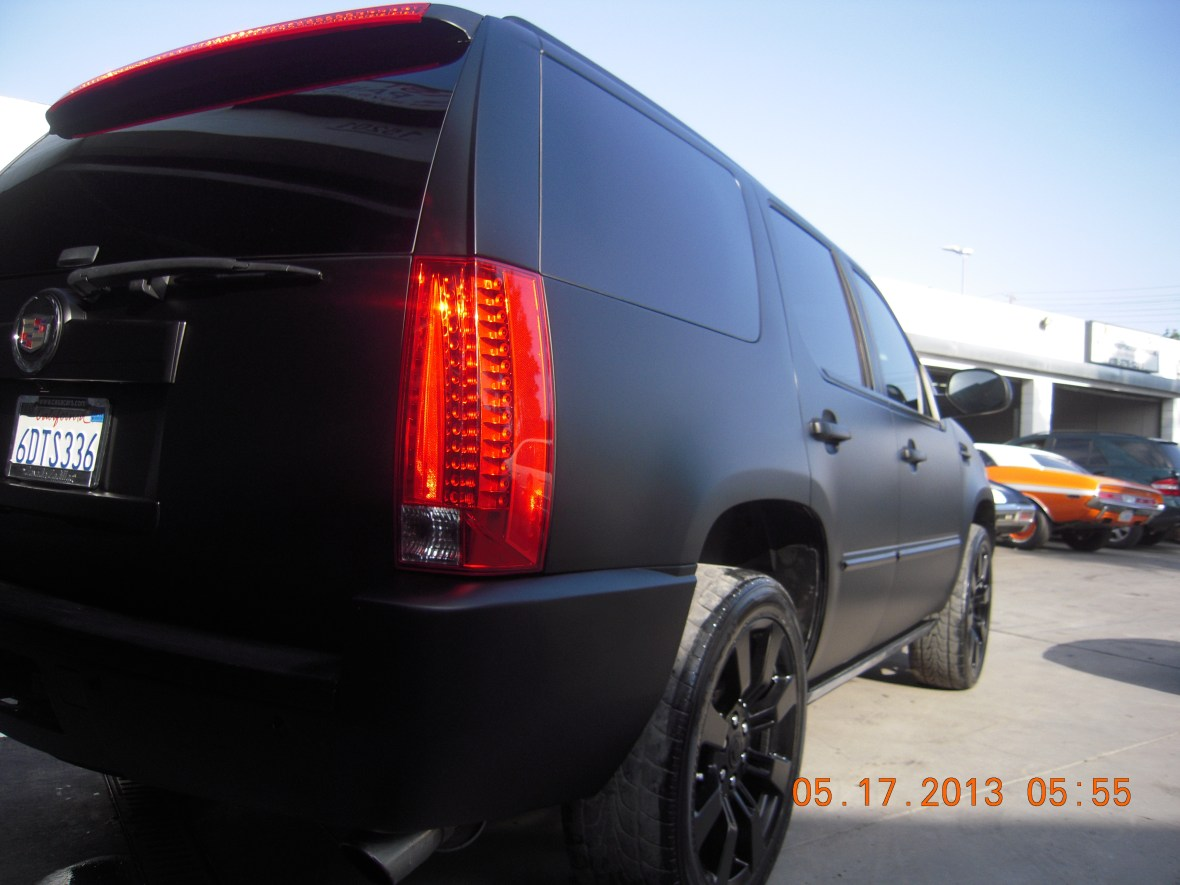 Custom flat matte black paint job in Van Nuys by West Coast Body & Paint