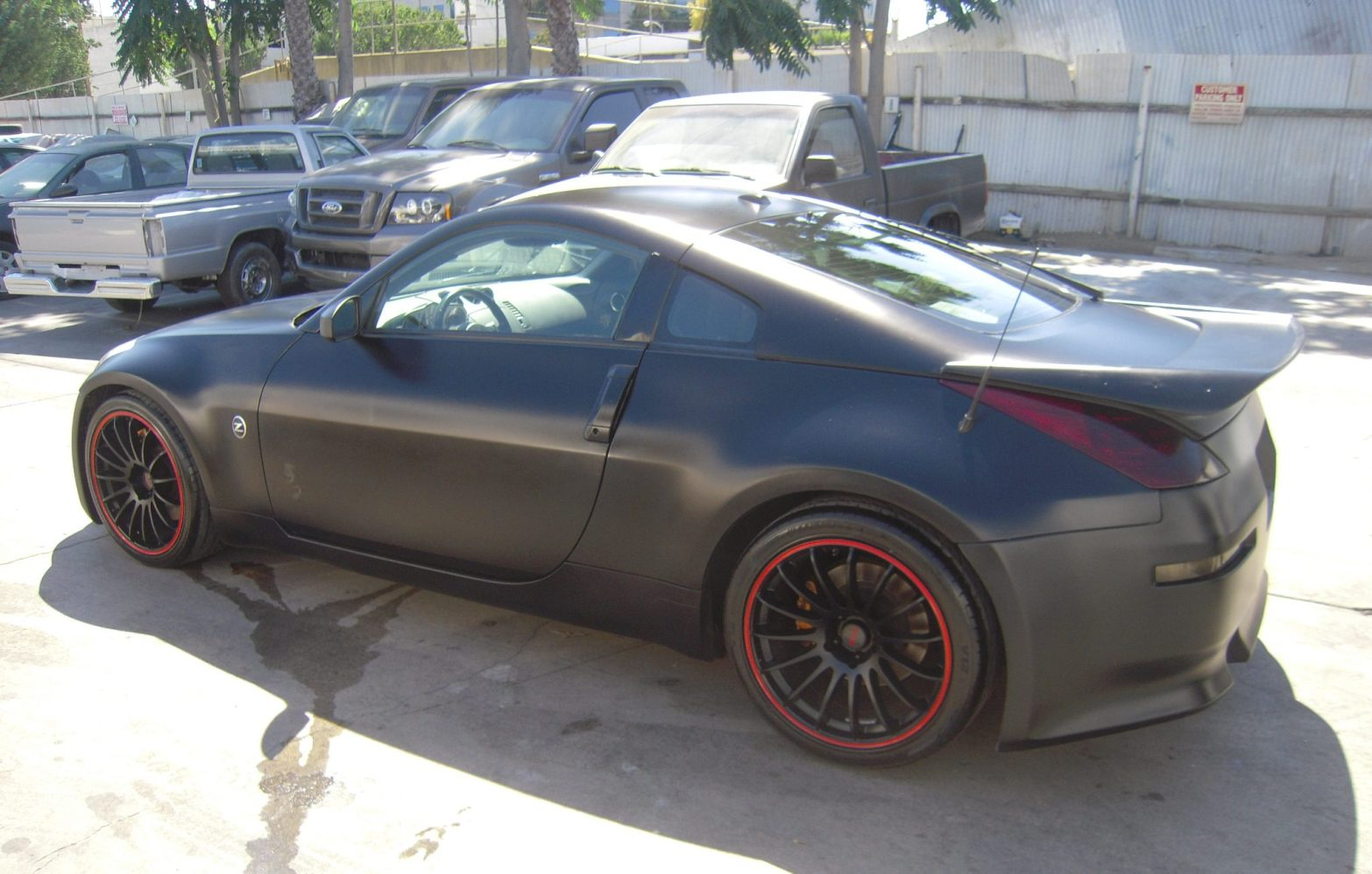 west-coast-body-and-paint-flat-black-nissan-350z-19