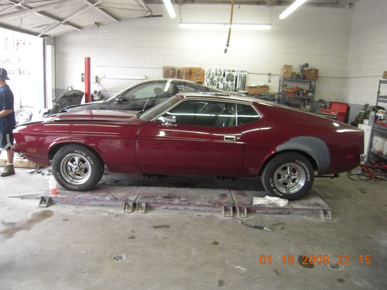 West-Coast-Body-And-Paint-Red-1972-Mustang-Fastback (1)