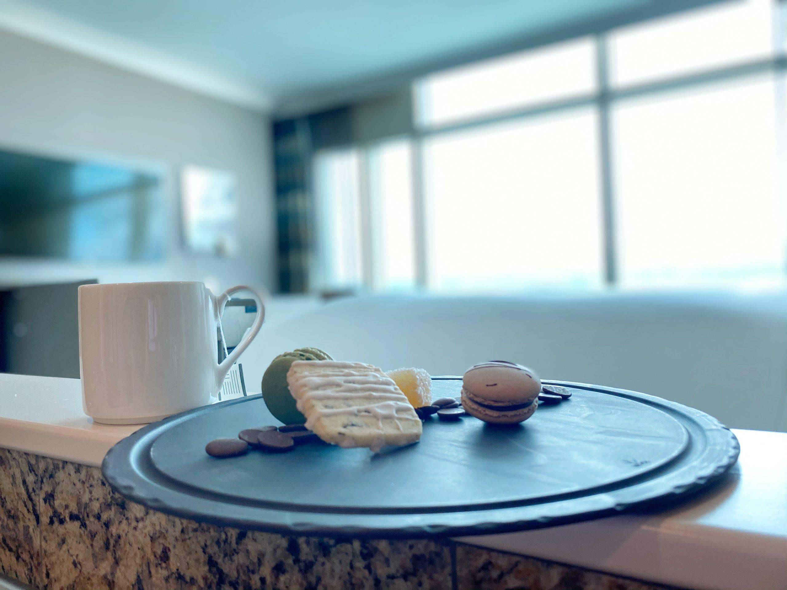 Bathtub-side tea and treats at the Fairmont YVR.