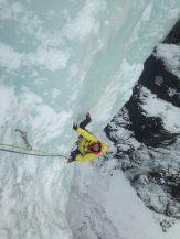 Dan following first pitch of Gap Falls (Wes Dyck)