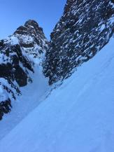 Lower couloir. Heading left out of 'Navigator Wall' (Marc-André Leclerc)