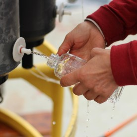 6) Last comes the salinity water sample, because salinity is very stable.