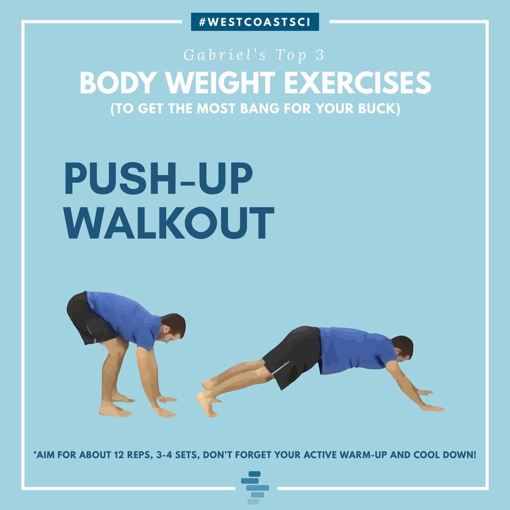 Push Up Walkout