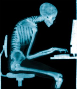 Skeleton Sitting Bad Posture