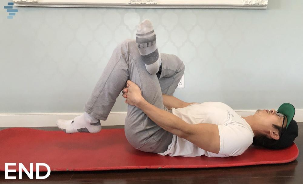 Glute stretch (figure 4 stretch)-1end