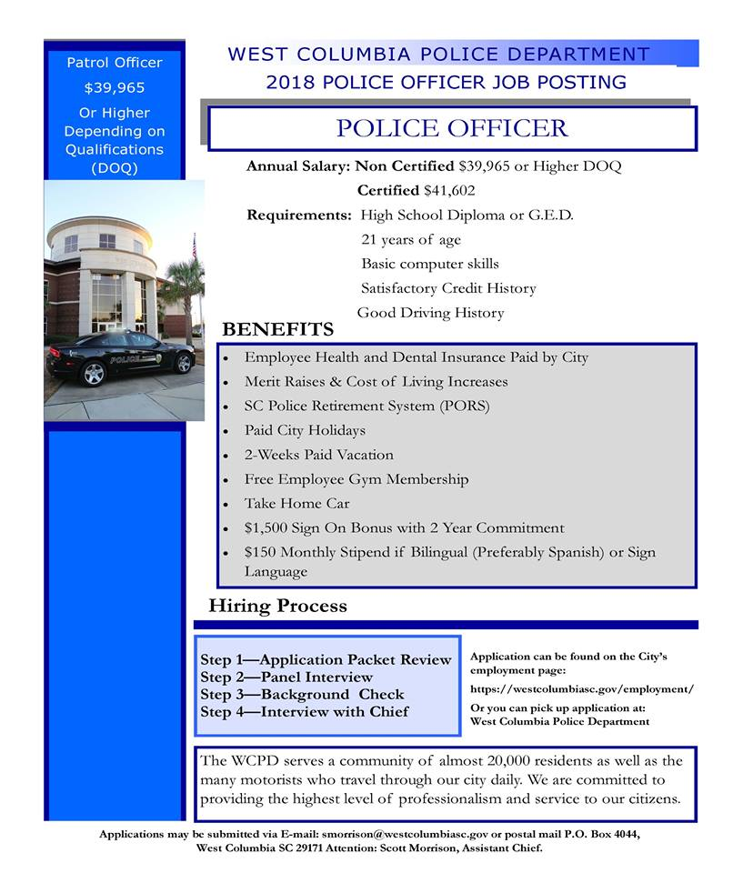 Employment - City of West Columbia