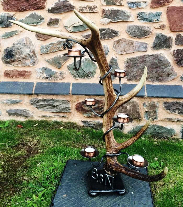 Exmoor stag antler Candelabra