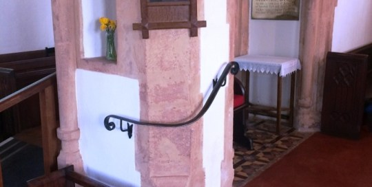 Ash prior church, Taunton - Handrail by West Country Blacksmiths