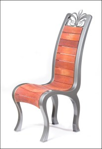One of a set of 12 bespoke chairs bespoke made by West Country Blacksmiths
