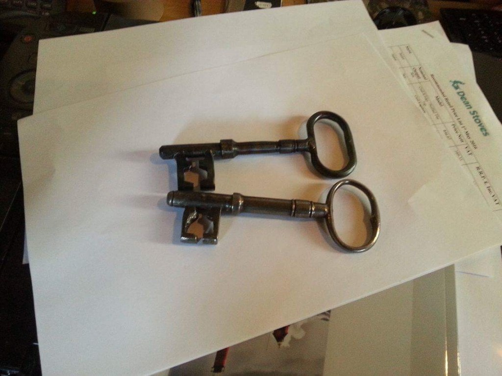 Fabrication of replica key by West Country Blacksmiths