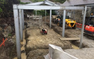 Galvanised steel frame building by West Country Blacksmiths