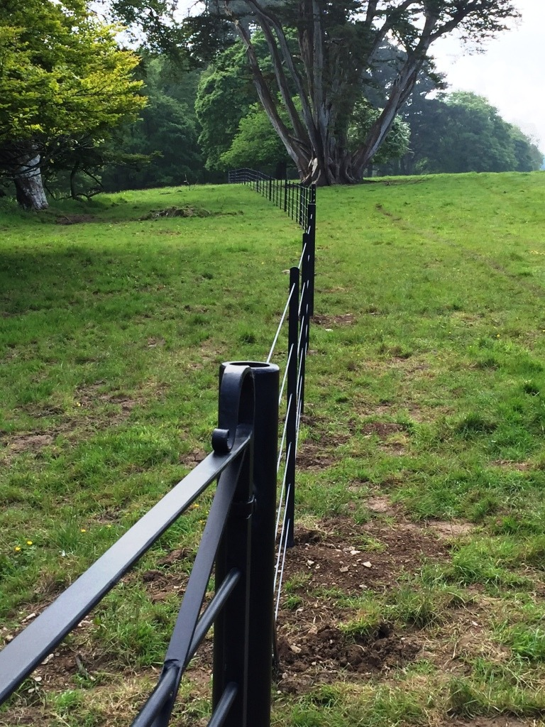 Pencarrow Estate fencing and gates by Wets Country Blacksmiths