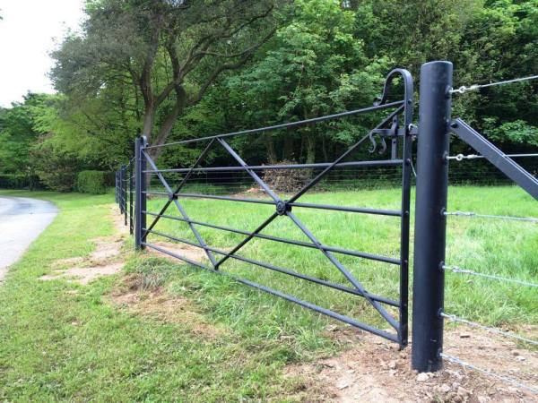 Estate gate and fencing project t the Pencarrow Estate by West Country Blacksmiths