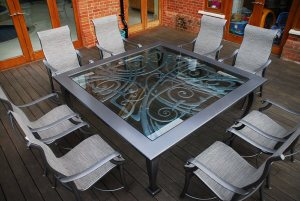 Bespoke blacksmith made table by West Country Blacksmiths
