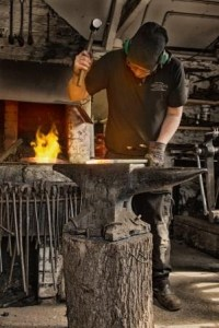 Forging at West Country Blacksmiths