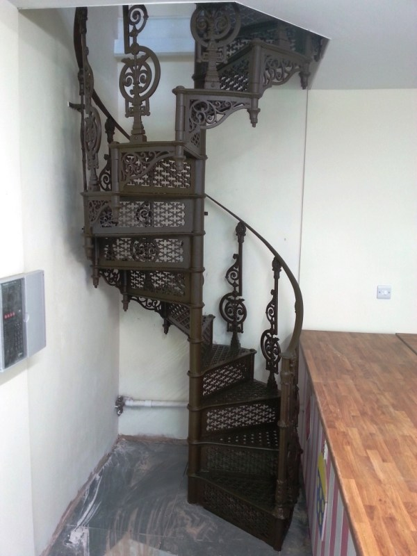 Cast iron staircase restoration by West Country Blacksmiths