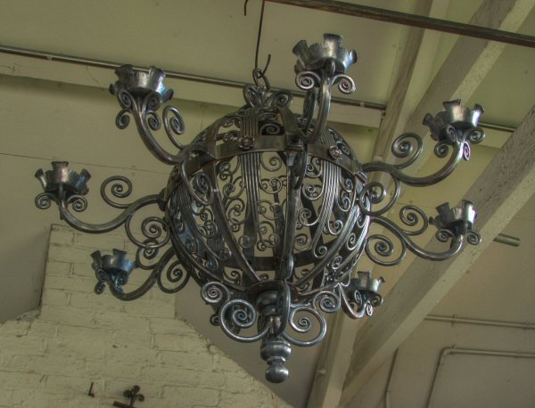 Bespoke spherical chandeliers by West Country Blacksmiths