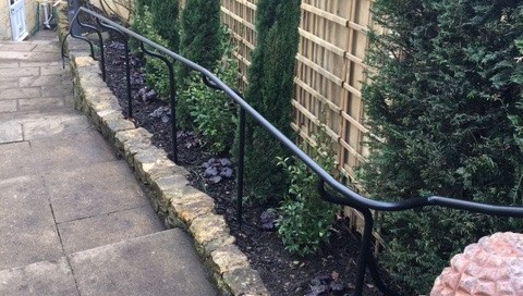 Close up picture of handrail in Chipping Campden, Cotsworlds.