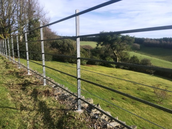 Estate style railings by West Country Blacksmiths