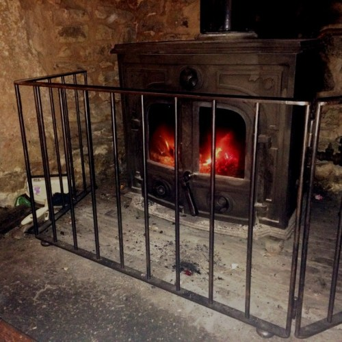 Bespoke fire guard by West Country Blacks
