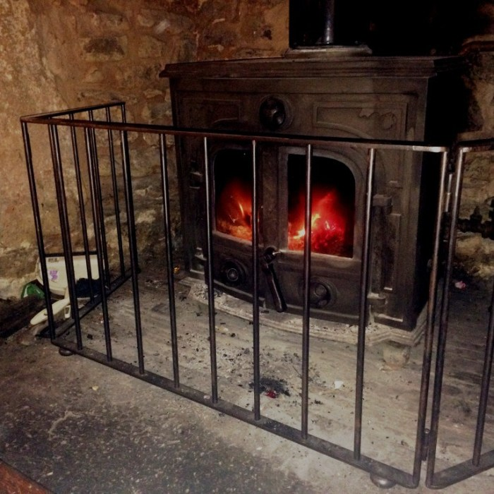 Bespoke fire guard by West Country Blacksmiths