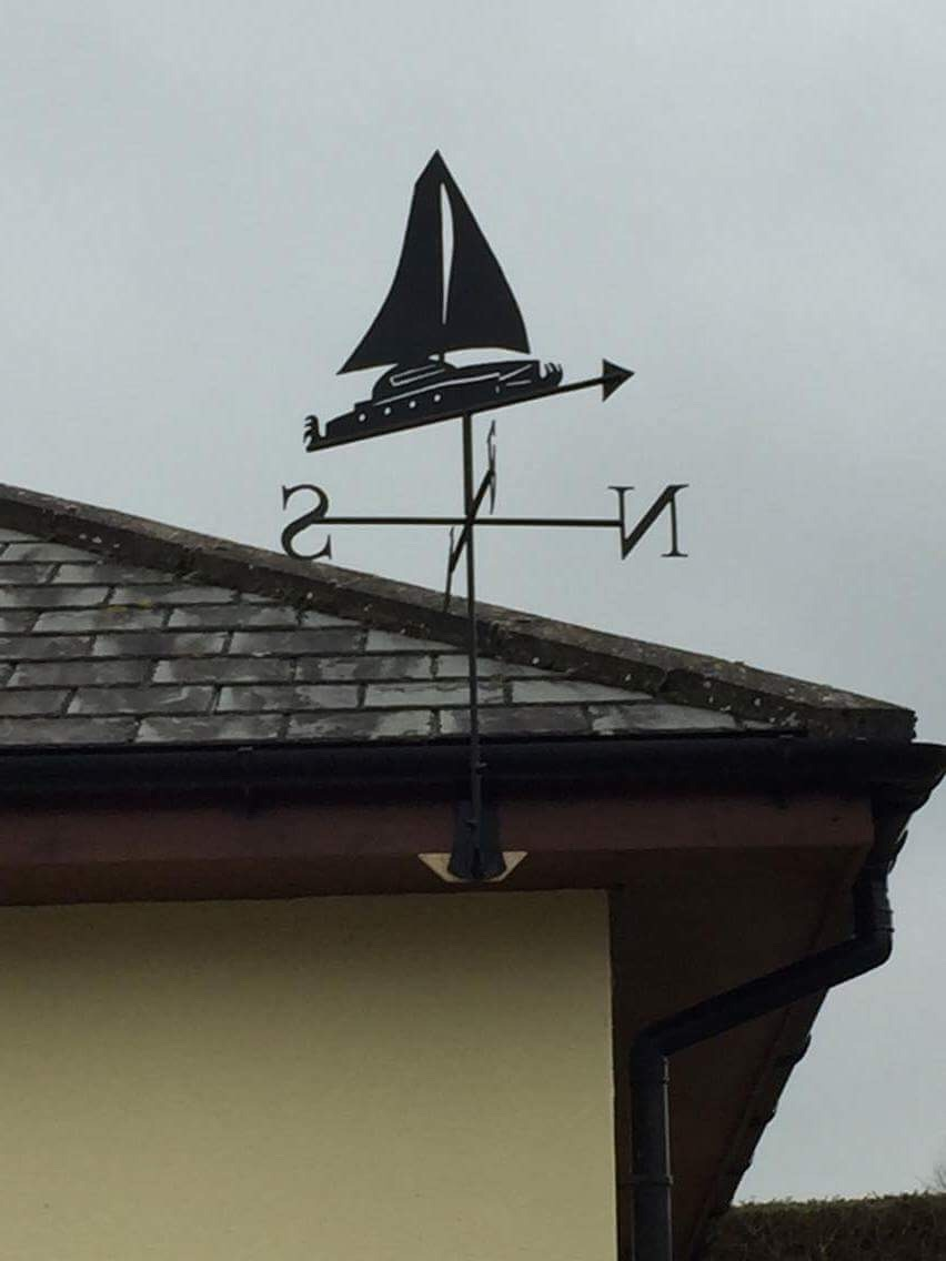 Bespoke boat weathervane by West Country Blacksmiths