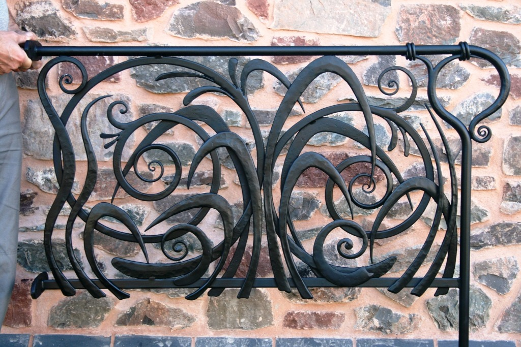 Decorative balustrade railing by West Country Blacksmiths