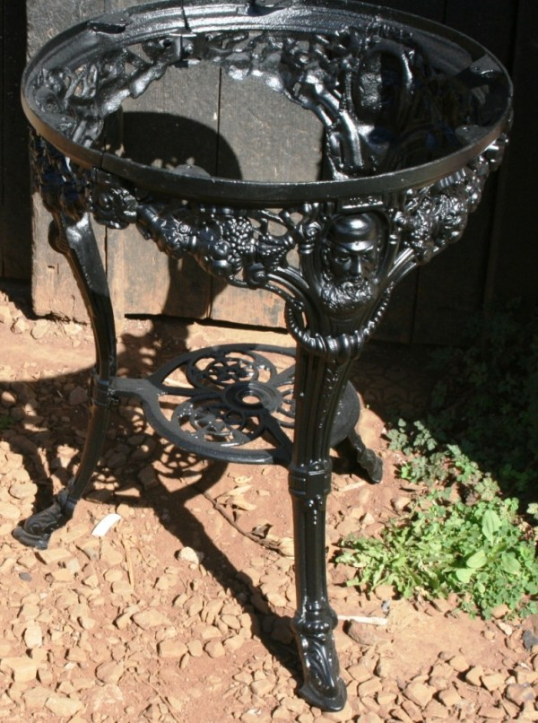 WG grace table following restoration by West Country Blacksmiths
