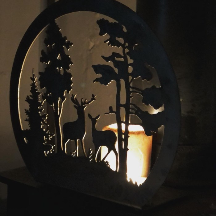 Exmoor Stag Scenery candle tray
