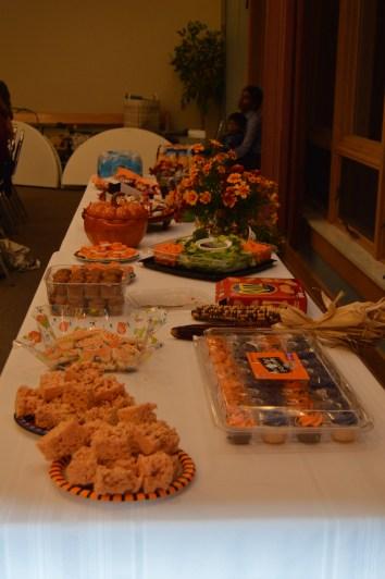 A wonderful Halloween spread courtesy of our wonderful families!
