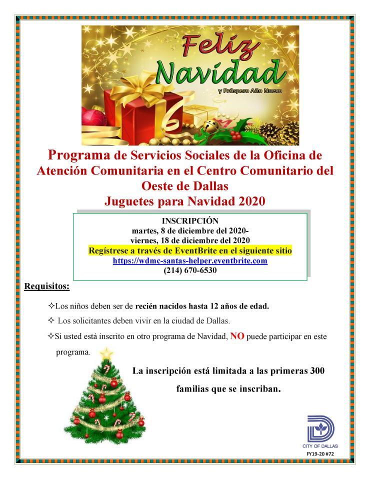 WDMC Christmas Toy Project 2020 (Spanish)