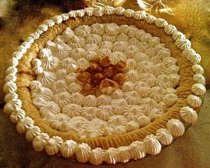 Maple cream pie. Delicious.