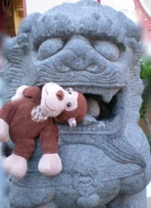 Gung hey fat choi! It's the Year of the Monkey! (Better give the lion some lai see if you don't want to get eaten, Monkey.)