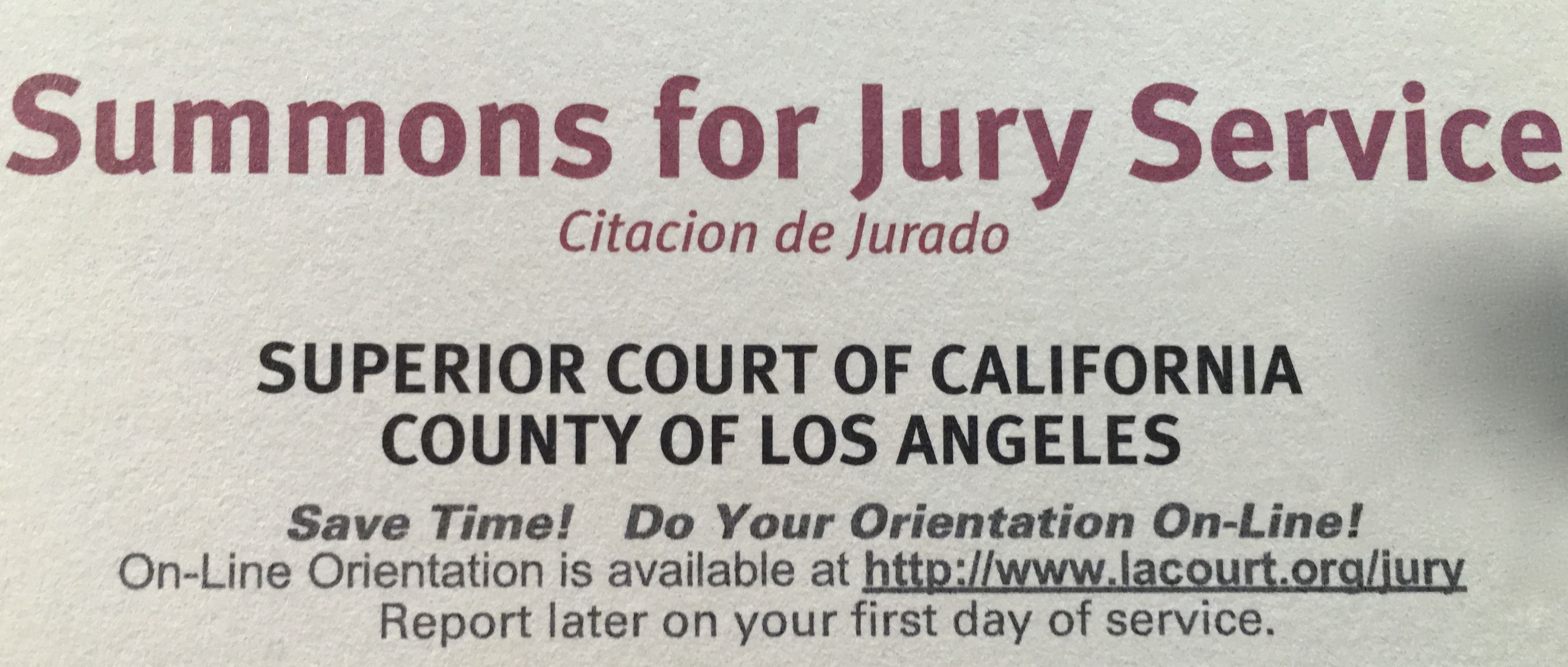 jury duty in los angeles county when west dates east. Black Bedroom Furniture Sets. Home Design Ideas