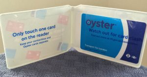 The Oyster card even comes with a handy case!