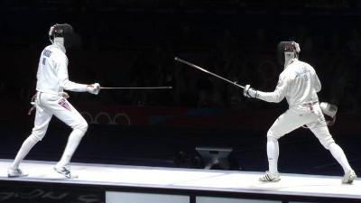 Fencers on piste