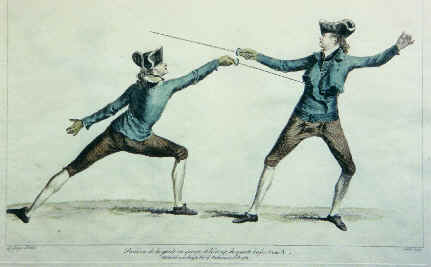 Fencing from Angelo, 1763