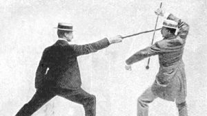 Image: Bartitsu stick fighting