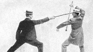 Image: Bartitsu stick fighting