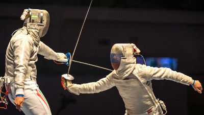 International sabre fencing