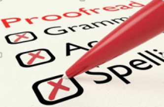 Copywriting and content checklist: proofreading, spelling, accuracy, etc.