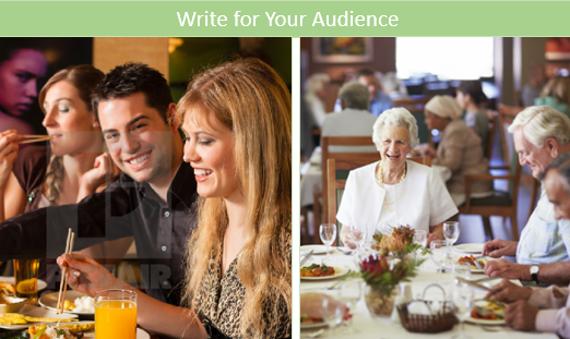 Know your different audience to identify content that will be valuable.