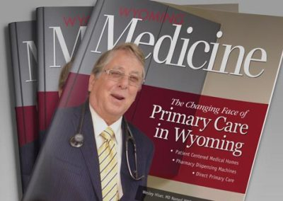 Layout and redesign for Wyoming medical magazine