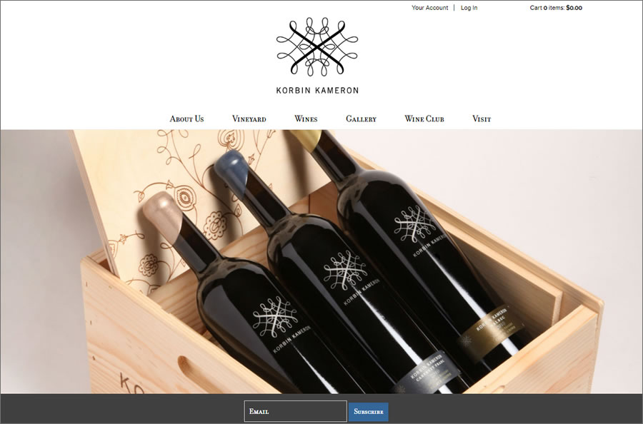 eCommerce Winery Website