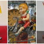 3 vintage wind-up toys